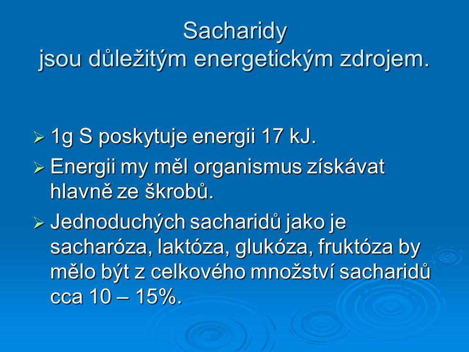 Sacharidy jsou důležitým energetickým zdrojem.