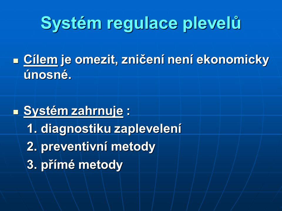Systém regulace plevelů