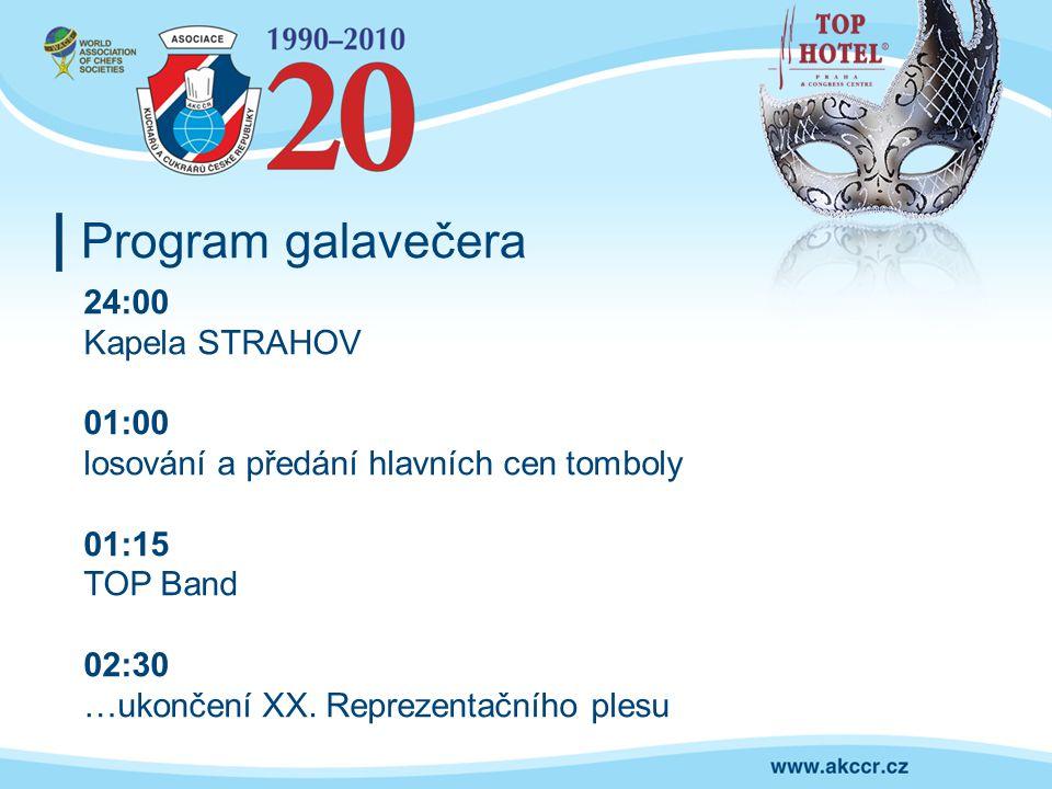 Program galavečera 24:00 Kapela STRAHOV 01:00