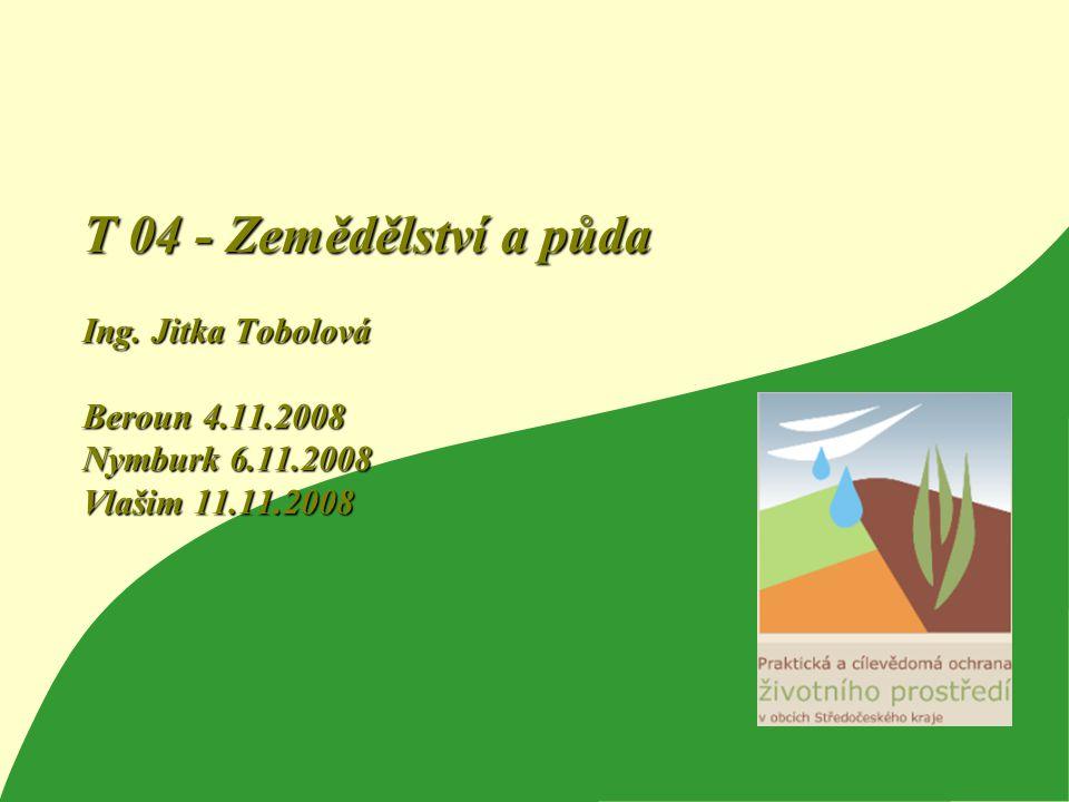 T 04 - Zemědělství a půda Ing. Jitka Tobolová Beroun 4. 11