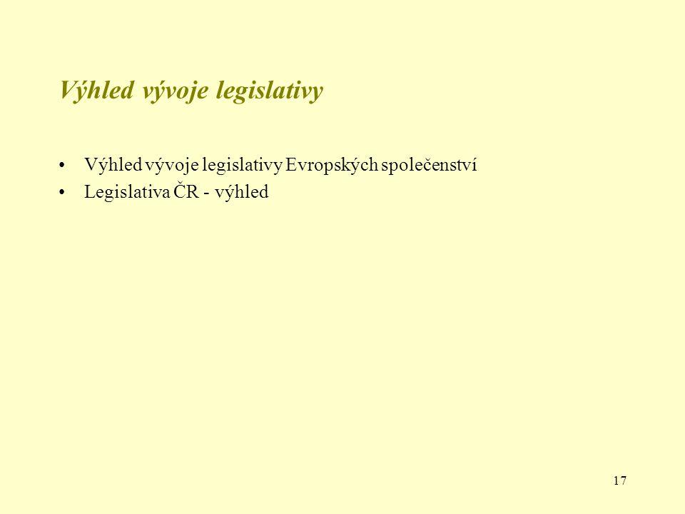Výhled vývoje legislativy