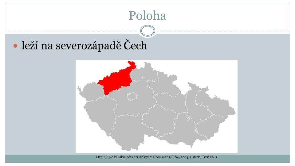 Poloha leží na severozápadě Čech