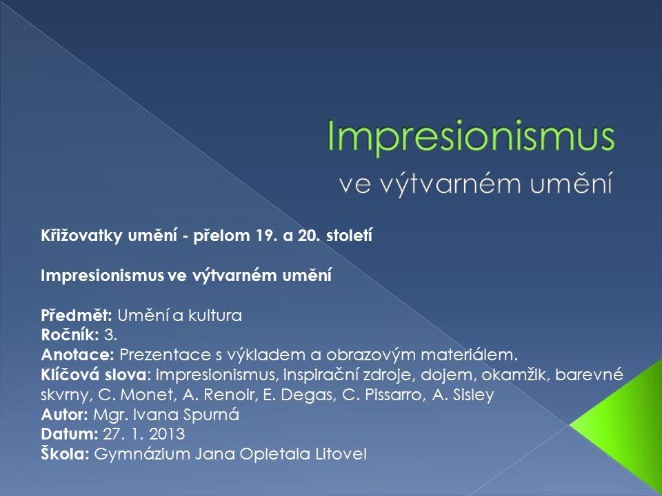 Impresionismus ve výtvarném umění