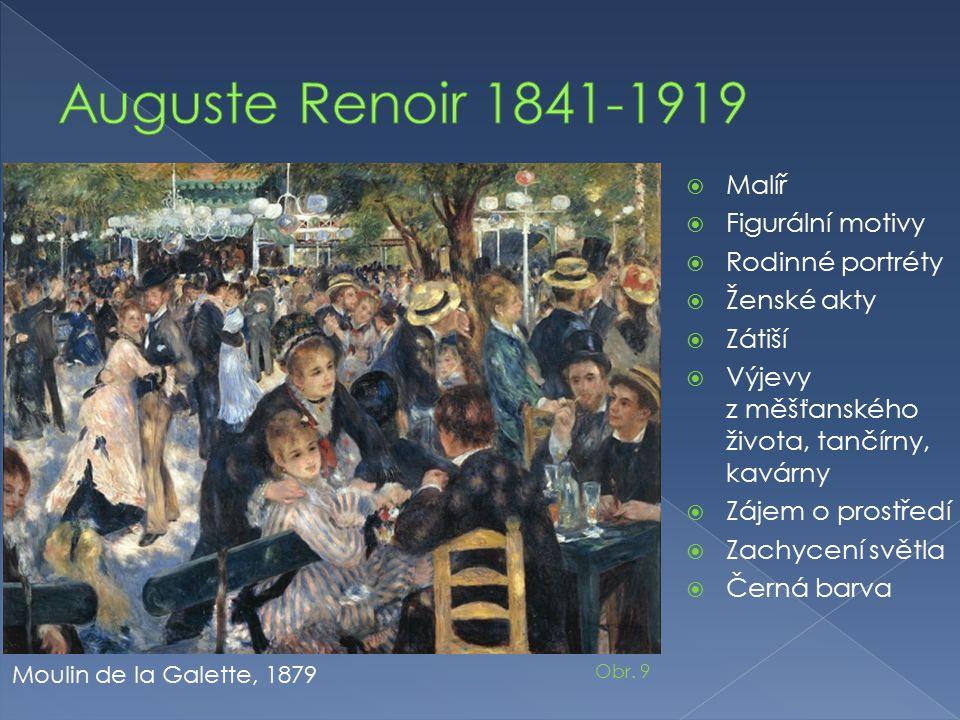 Auguste Renoir 1841-1919 Malíř Figurální motivy Rodinné portréty