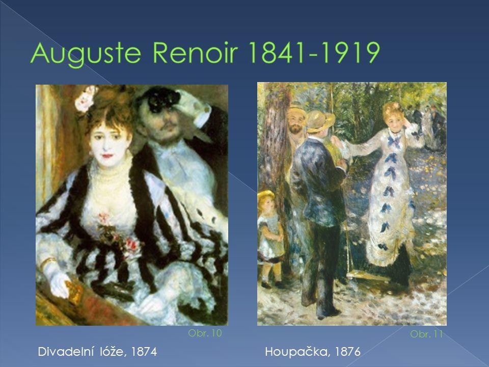 Auguste Renoir 1841-1919 Divadelní lóže, 1874 Houpačka, 1876 Obr. 10