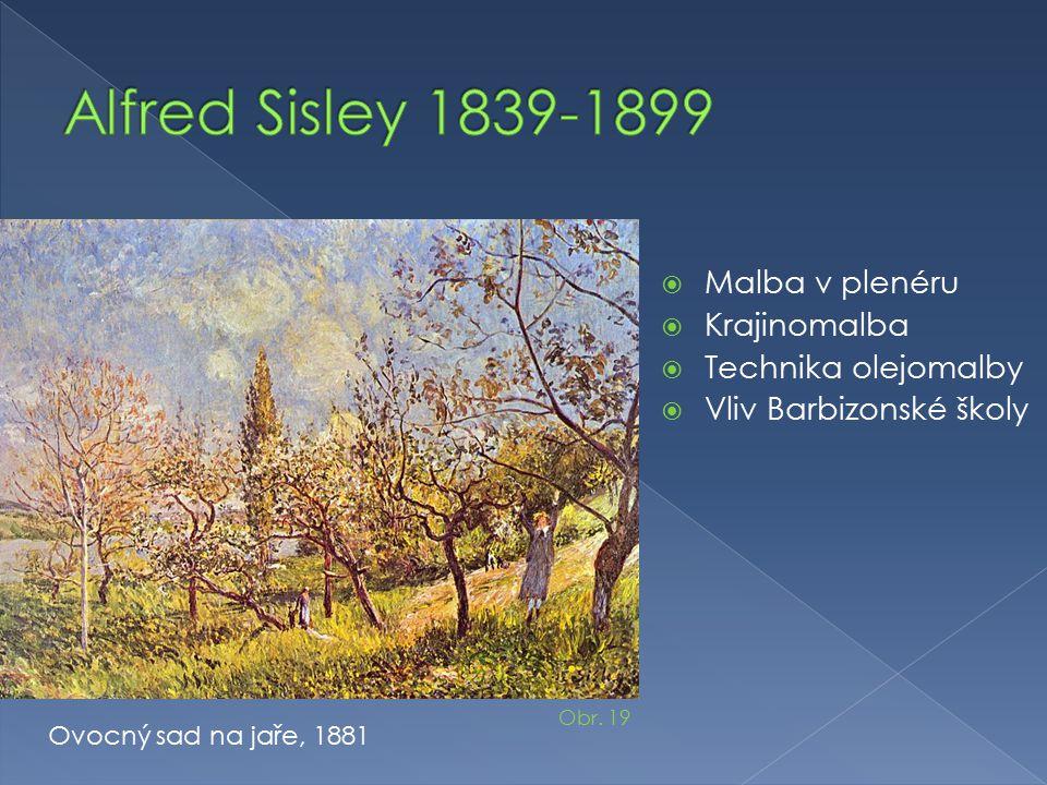 Alfred Sisley 1839-1899 Malba v plenéru Krajinomalba