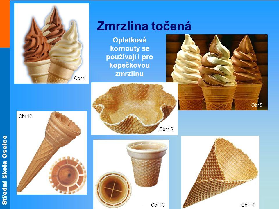 Oplatkové kornouty se používají i pro kopečkovou zmrzlinu