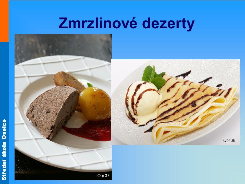 Zmrzlinové dezerty Obr.37 Obr.38