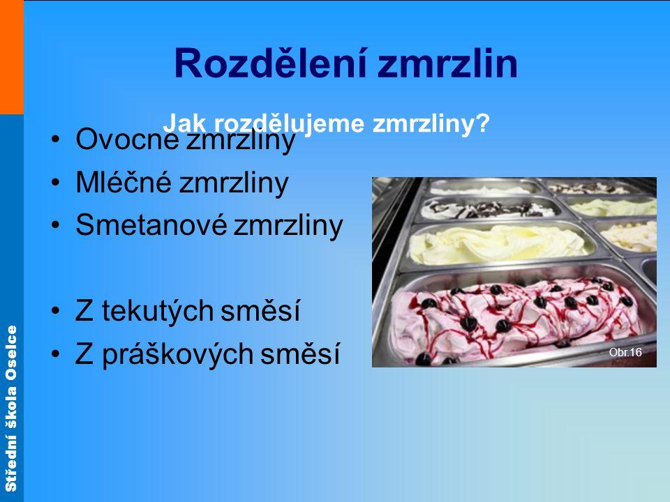 Jak rozdělujeme zmrzliny