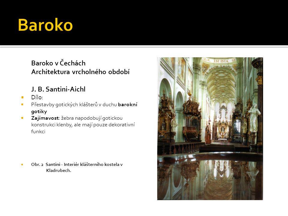 Baroko Baroko v Čechách Architektura vrcholného období