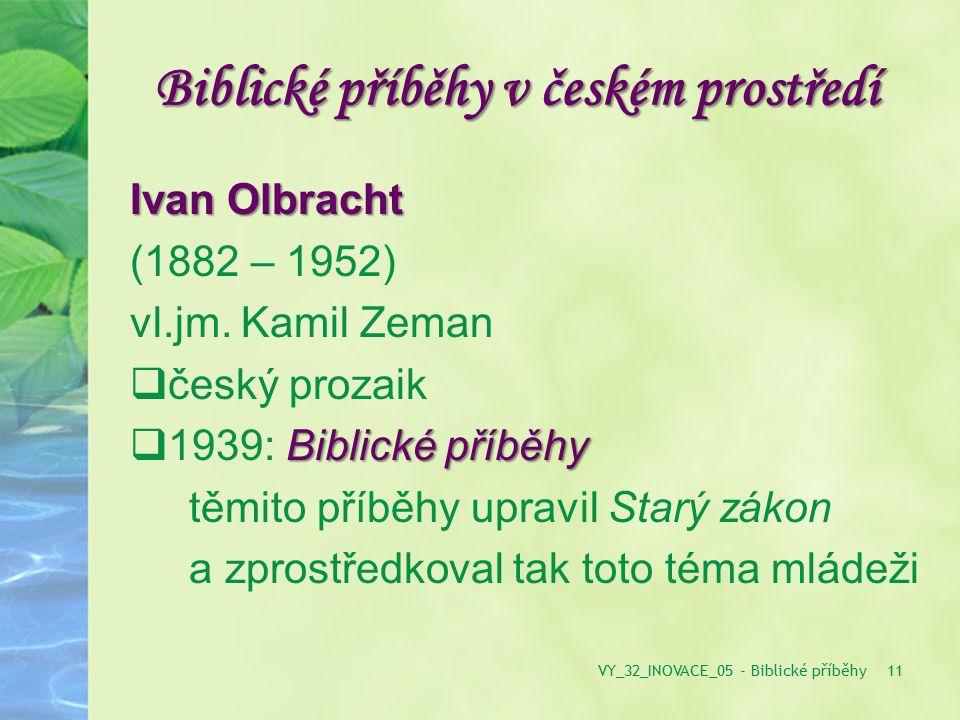 Biblické příběhy v českém prostředí