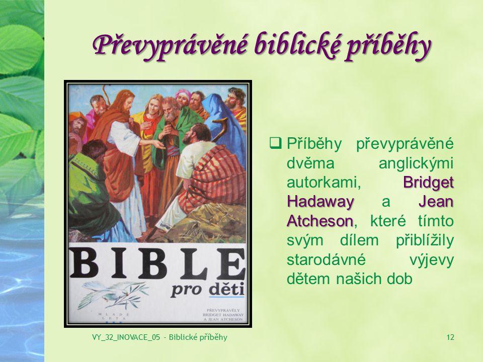 Převyprávěné biblické příběhy