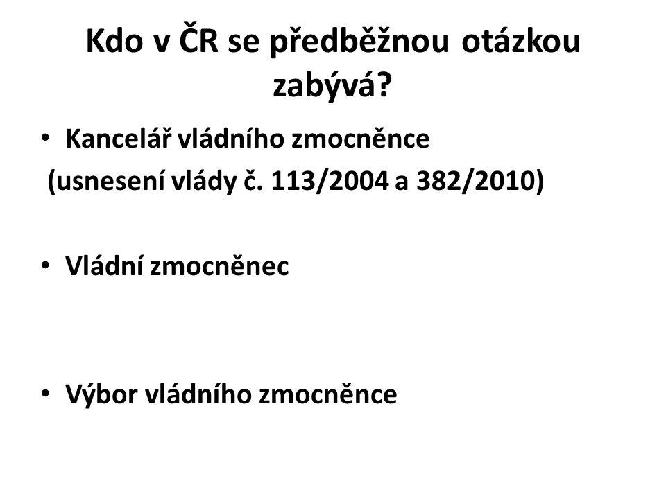 Kdo v ČR se předběžnou otázkou zabývá