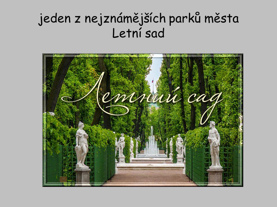 jeden z nejznámějších parků města Letní sad