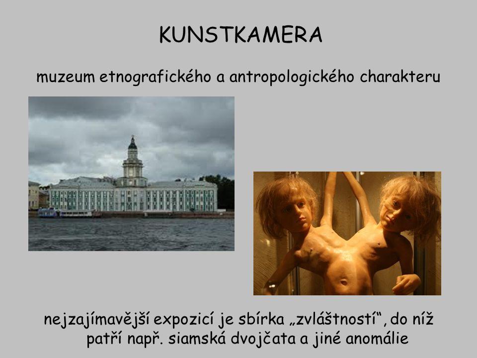 KUNSTKAMERA muzeum etnografického a antropologického charakteru
