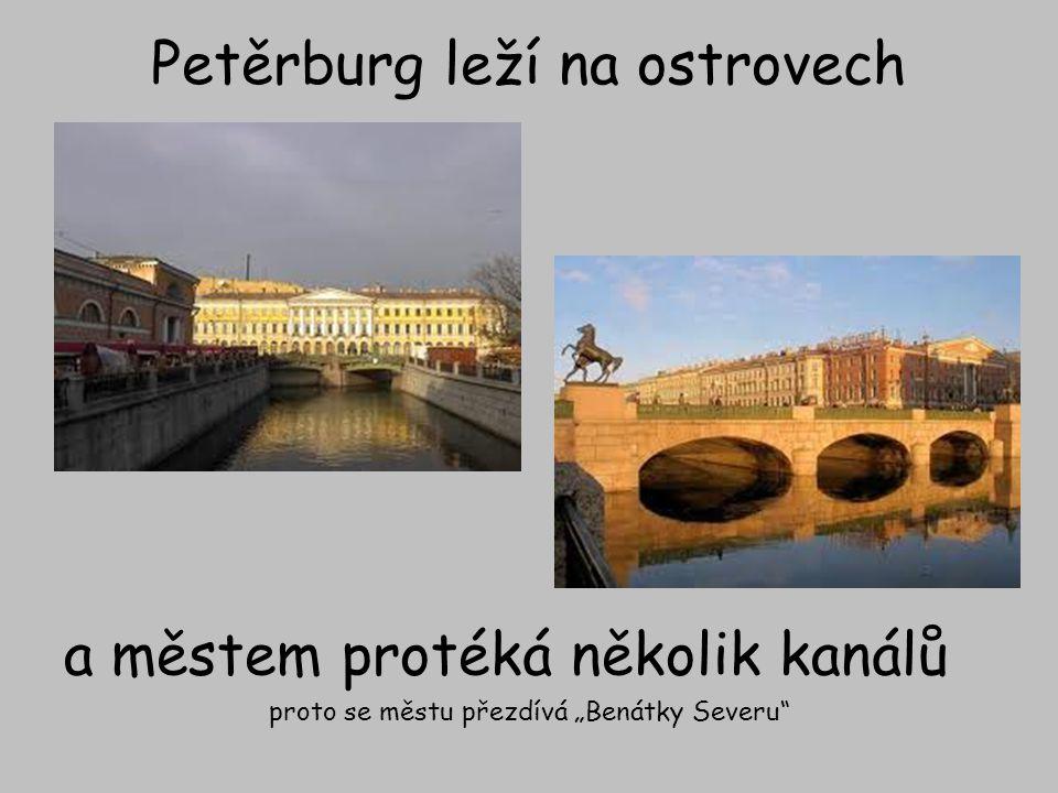 Petěrburg leží na ostrovech