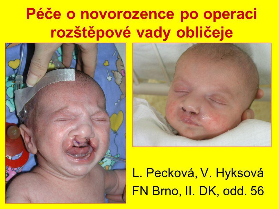Péče o novorozence po operaci rozštěpové vady obličeje