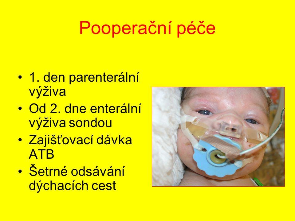 Pooperační péče 1. den parenterální výživa