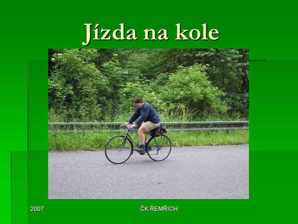 Jízda na kole 2007 ČK ŘEMŘICH