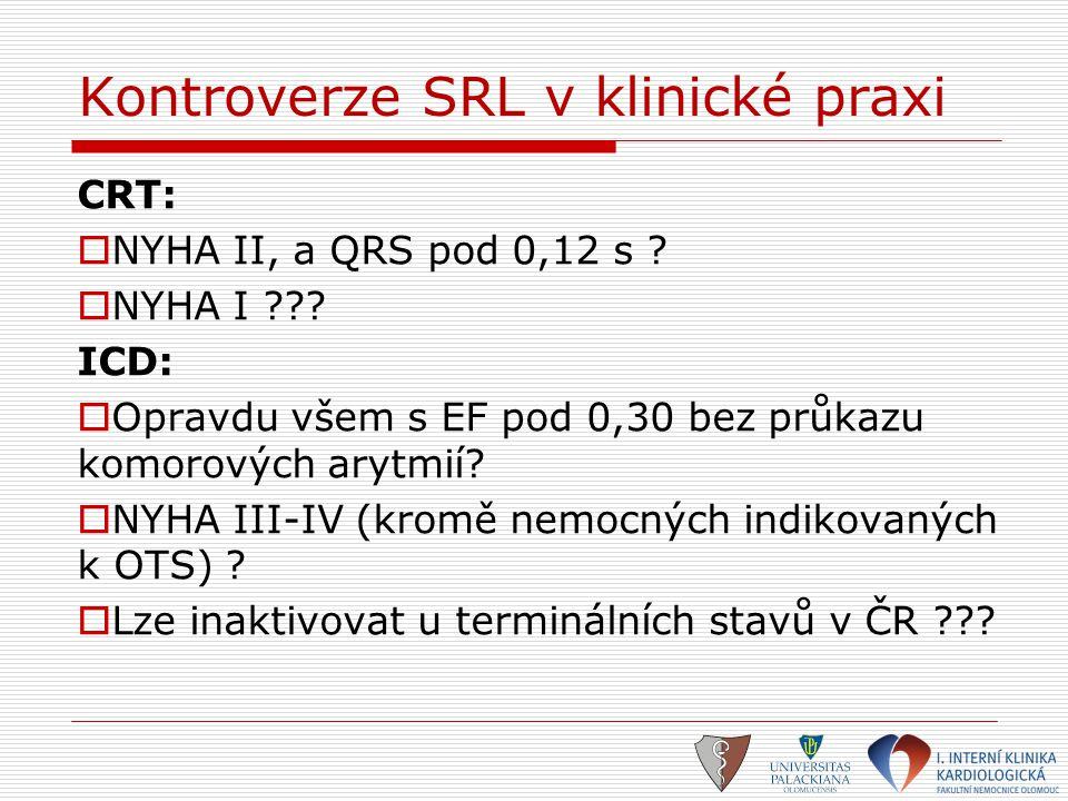 Kontroverze SRL v klinické praxi