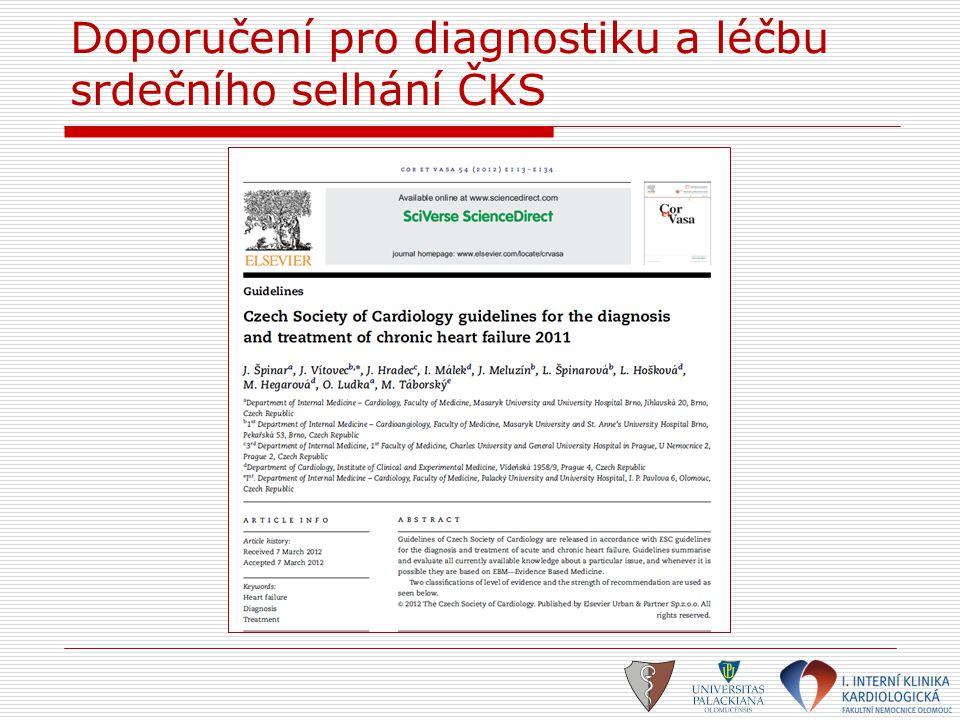 Doporučení pro diagnostiku a léčbu srdečního selhání ČKS