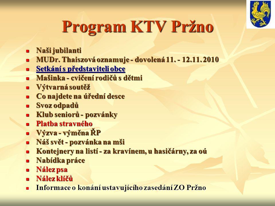 Program KTV Pržno Naši jubilanti
