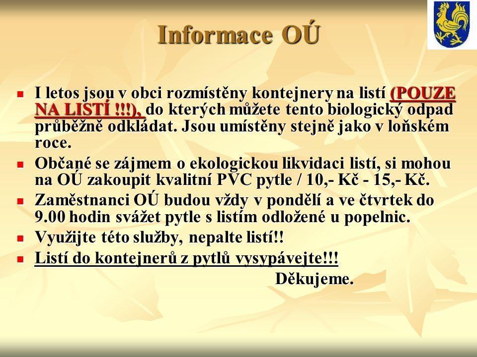Informace OÚ