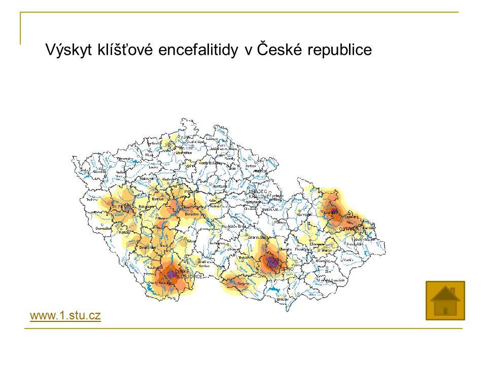 Výskyt klíšťové encefalitidy v České republice