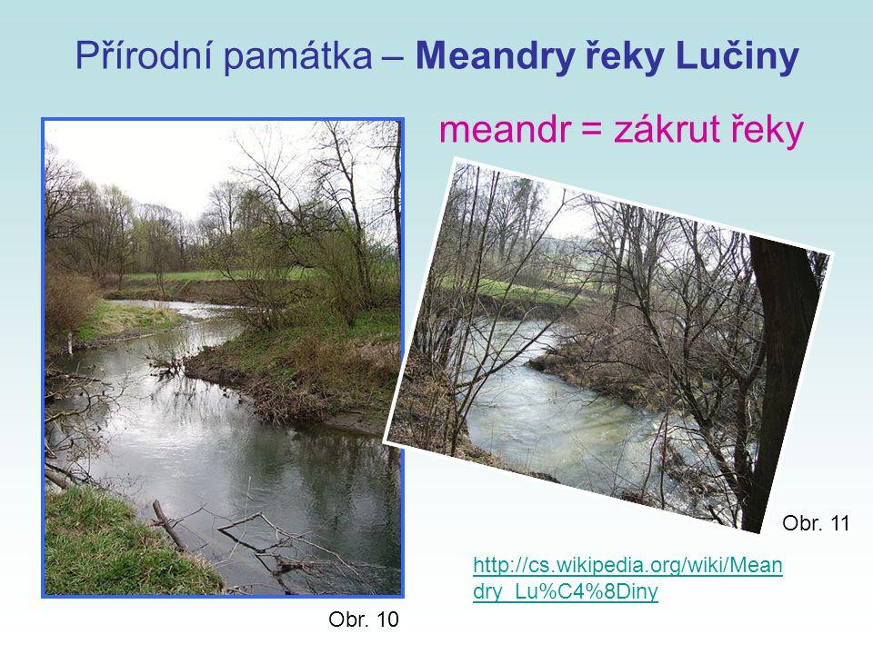 Přírodní památka – Meandry řeky Lučiny