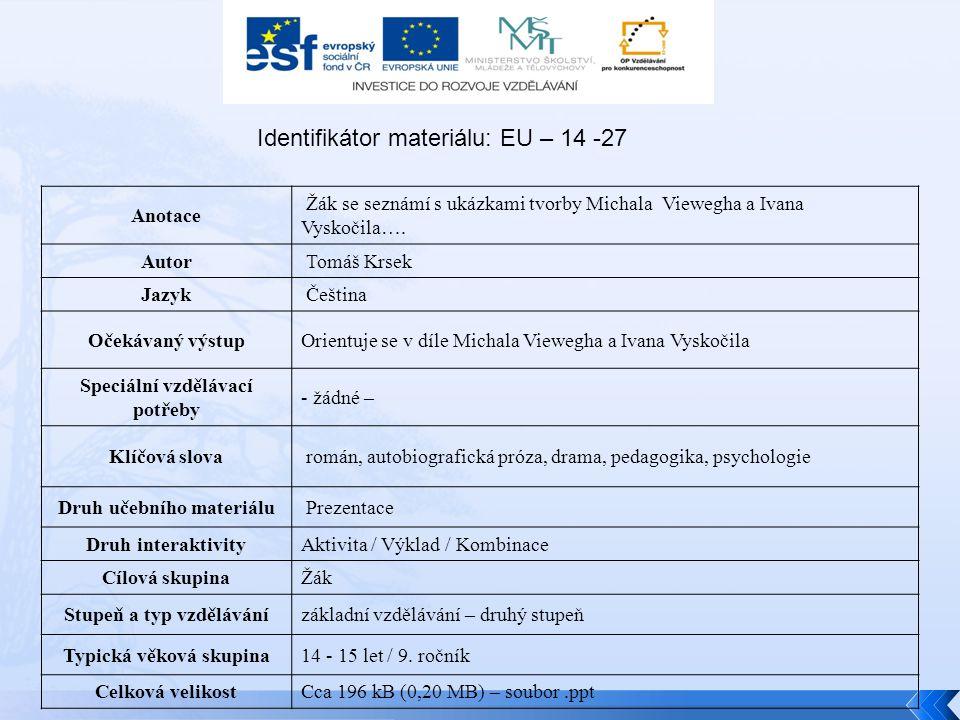 Identifikátor materiálu: EU – 14 -27