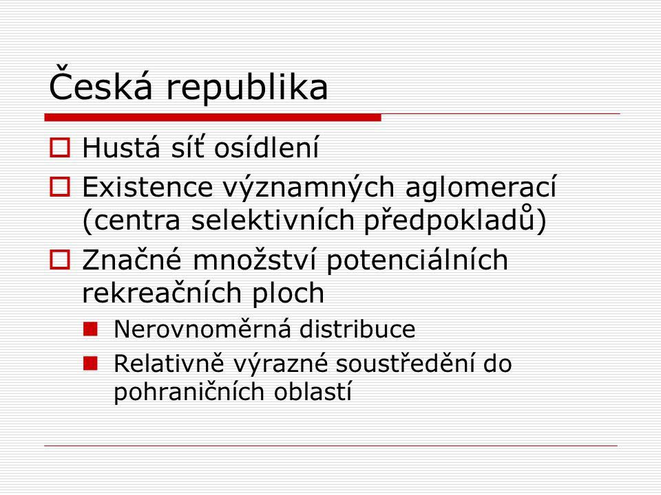 Česká republika Hustá síť osídlení