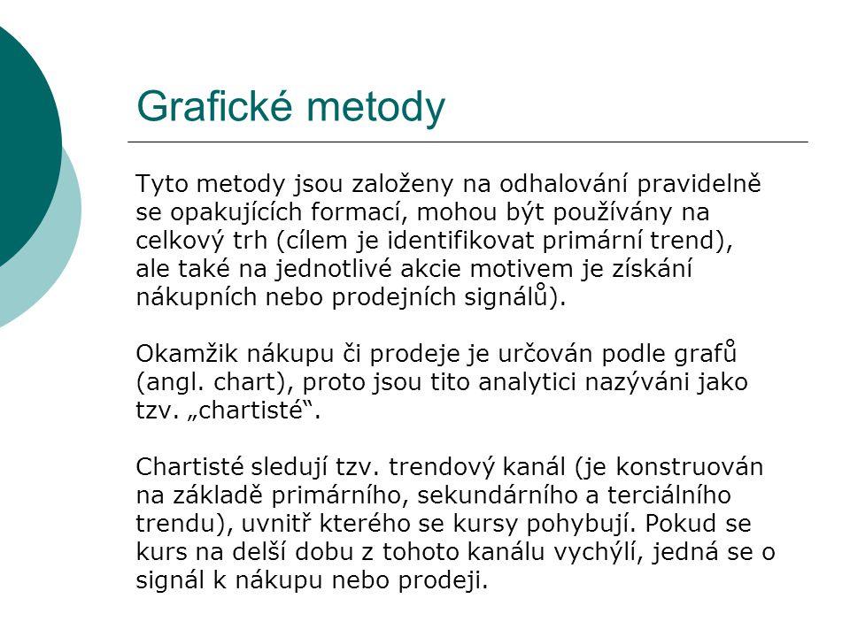 Grafické metody Tyto metody jsou založeny na odhalování pravidelně