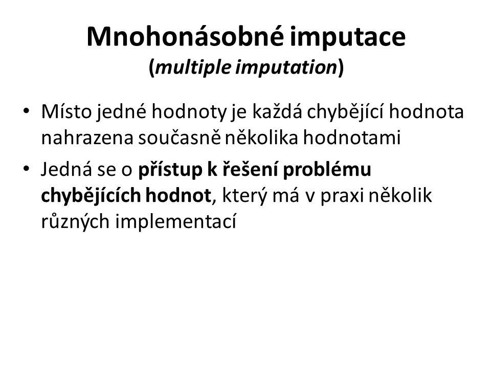Mnohonásobné imputace (multiple imputation)