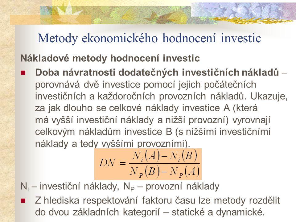 Metody ekonomického hodnocení investic