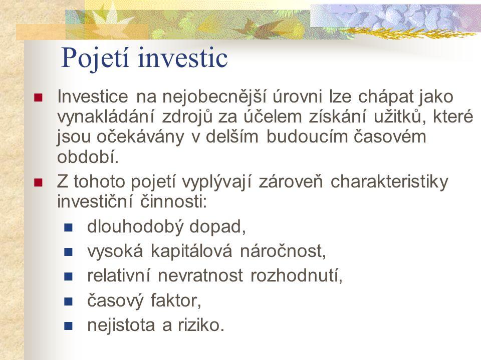 Pojetí investic