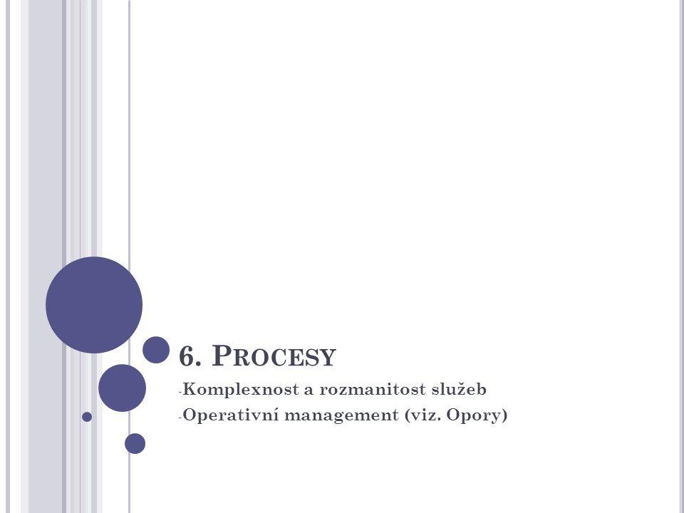 Komplexnost a rozmanitost služeb Operativní management (viz. Opory)