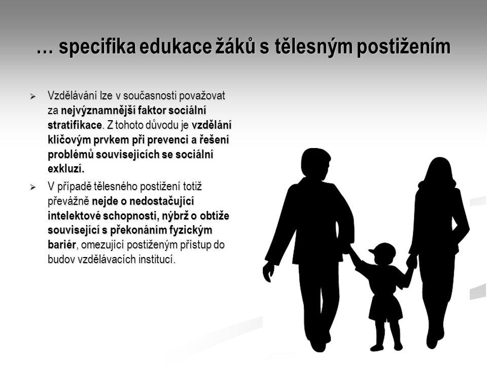 … specifika edukace žáků s tělesným postižením