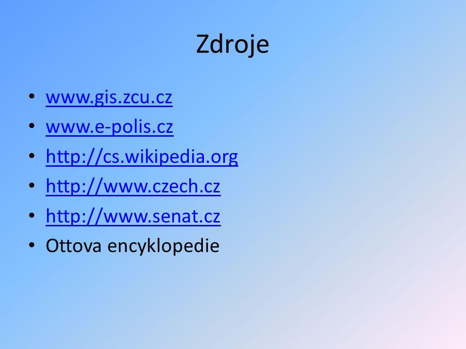 Zdroje www.gis.zcu.cz www.e-polis.cz http://cs.wikipedia.org