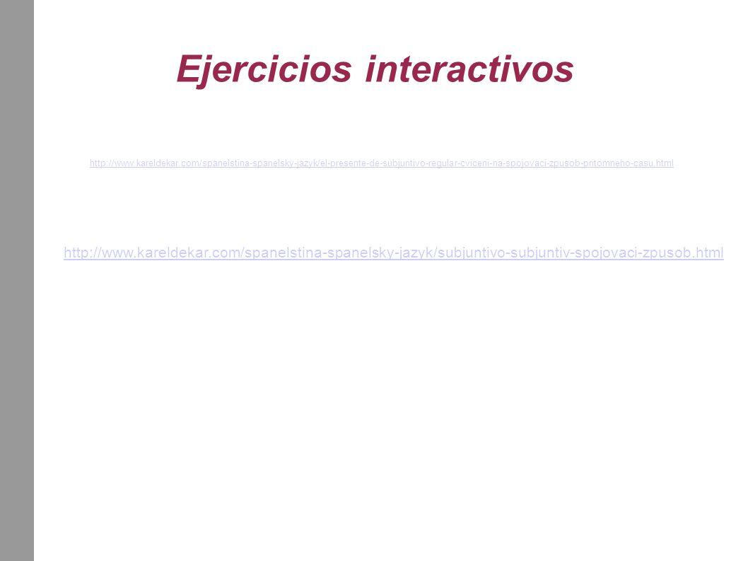 Ejercicios interactivos