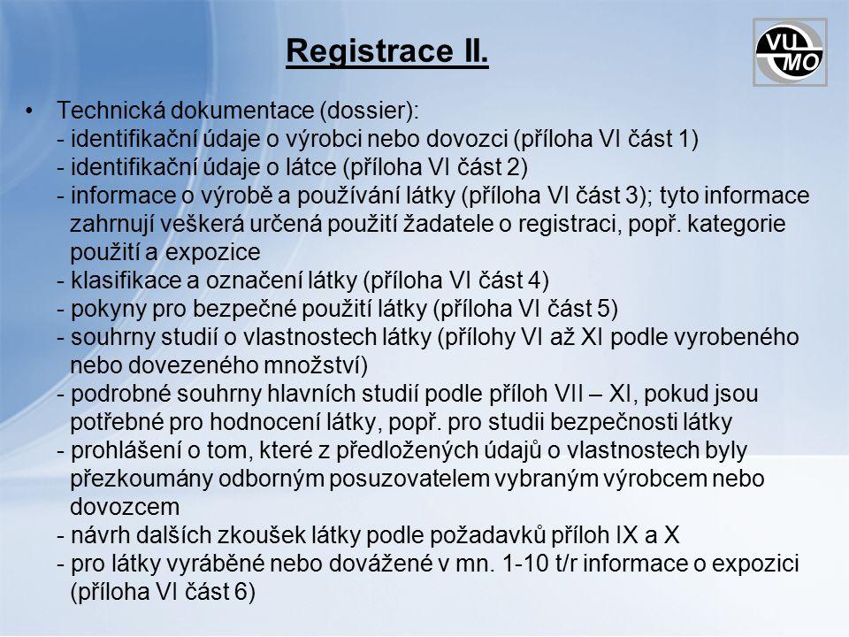 Registrace II.