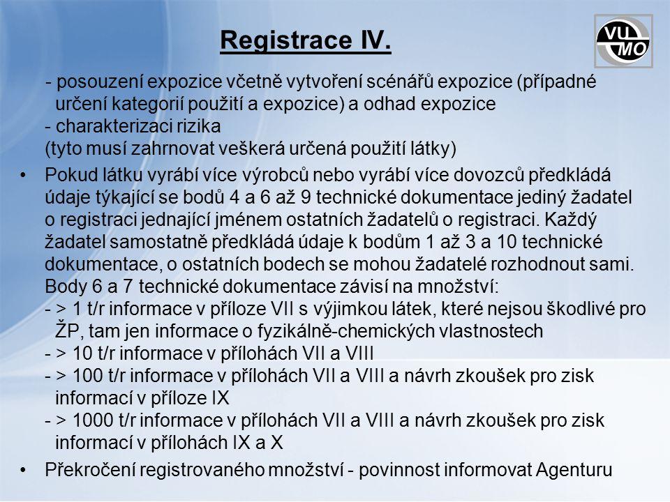 Registrace IV.