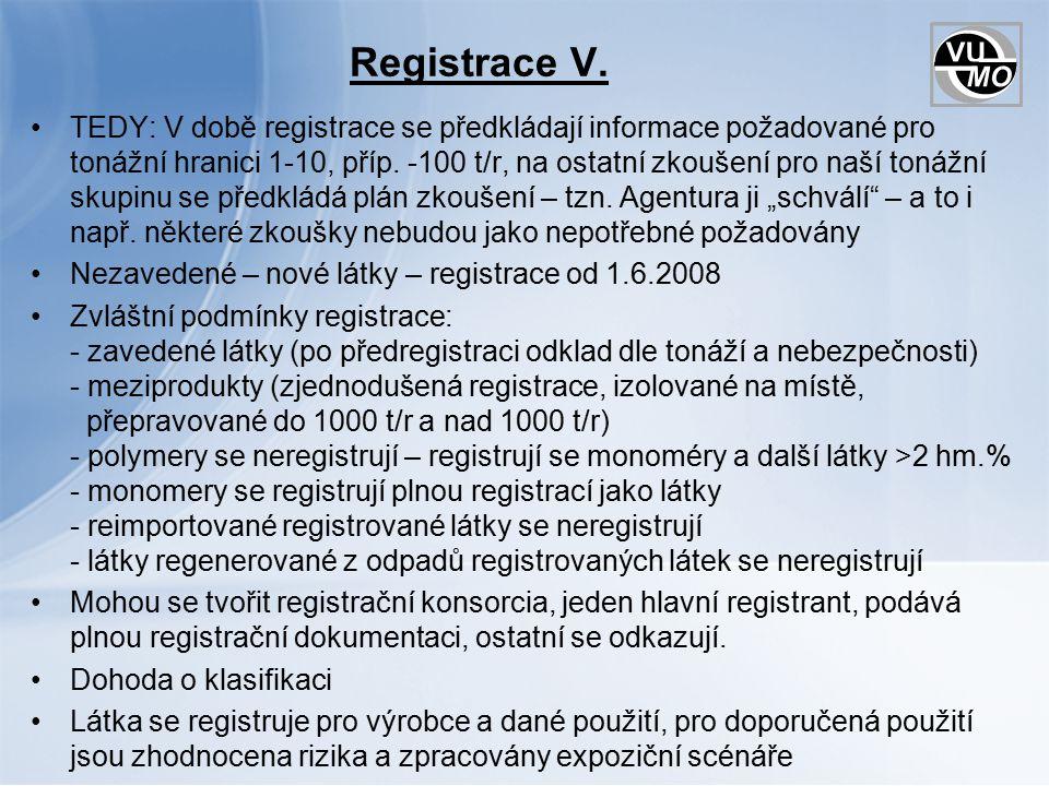 Registrace V.