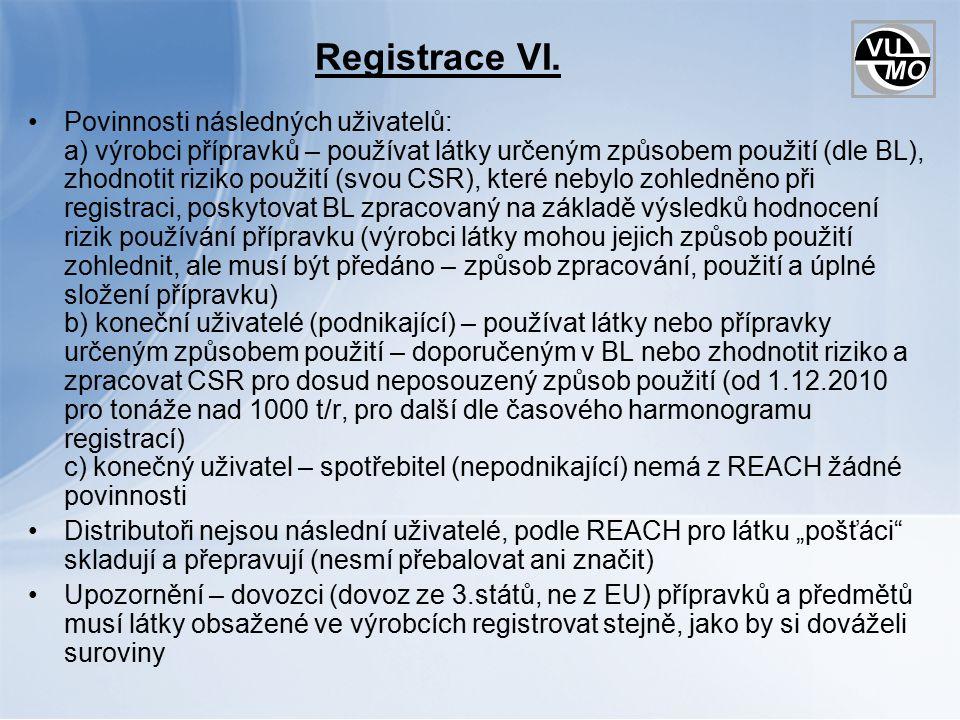 Registrace VI.