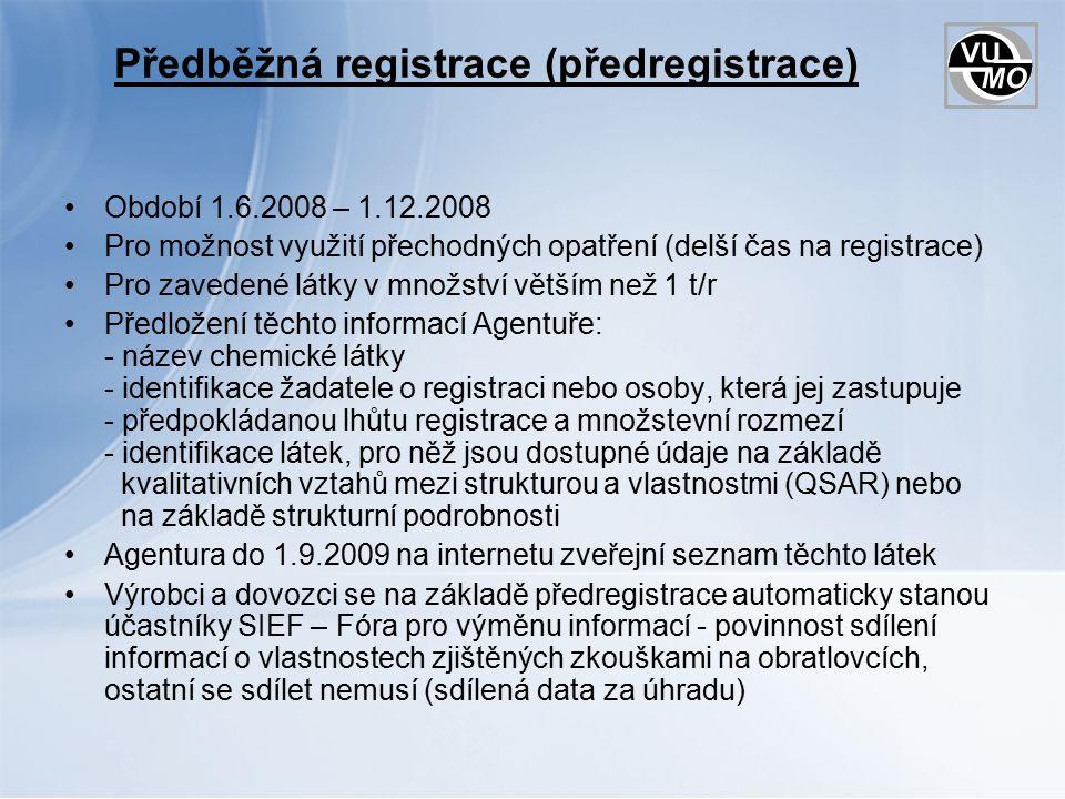 Předběžná registrace (předregistrace)