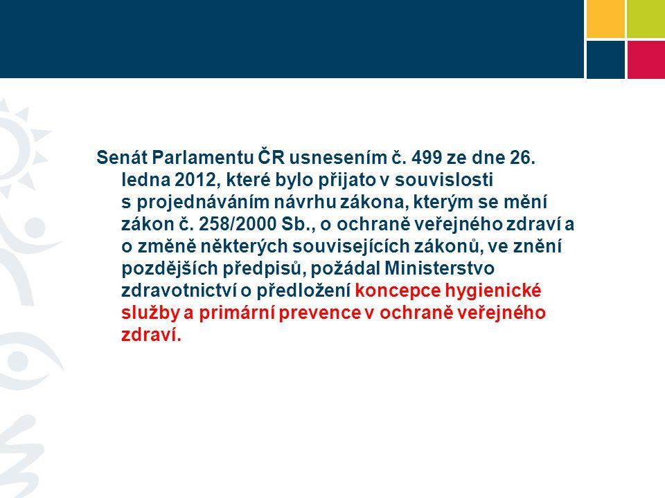 Senát Parlamentu ČR usnesením č. 499 ze dne 26