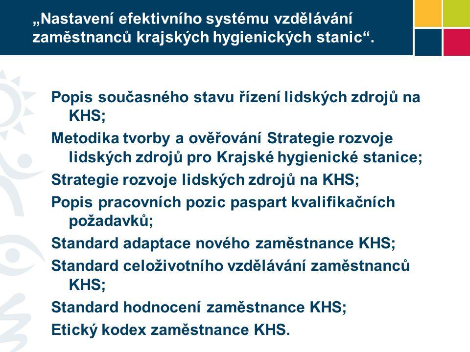 Popis současného stavu řízení lidských zdrojů na KHS;