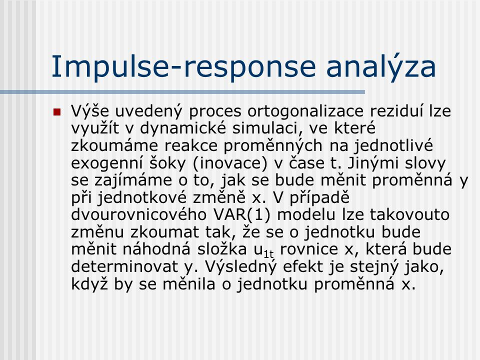 Impulse-response analýza