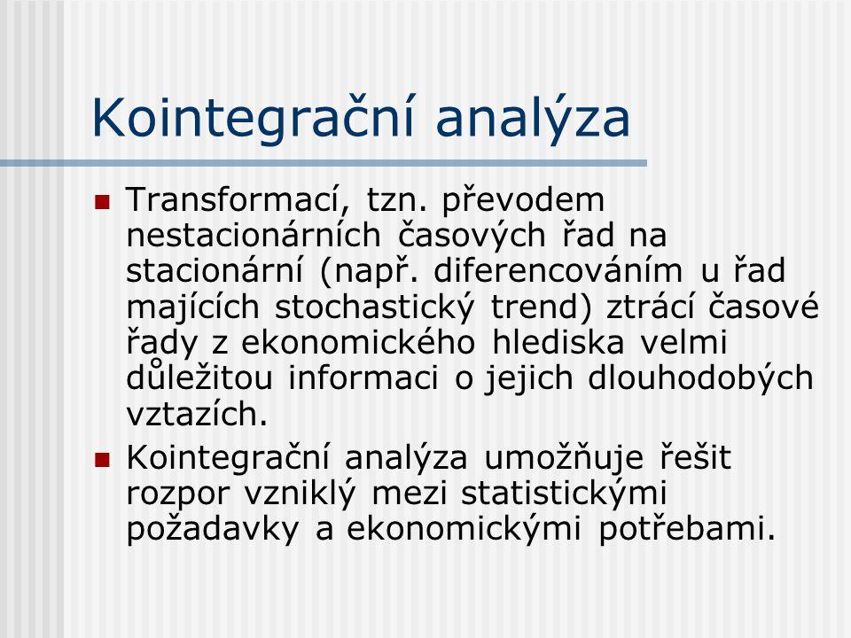 Kointegrační analýza