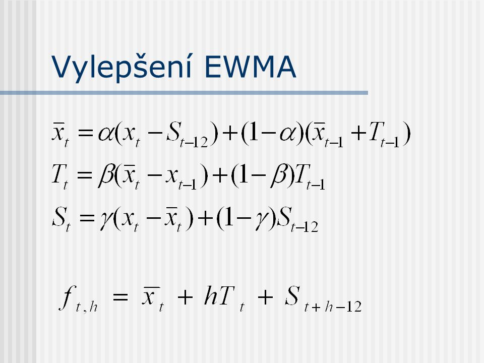 Vylepšení EWMA