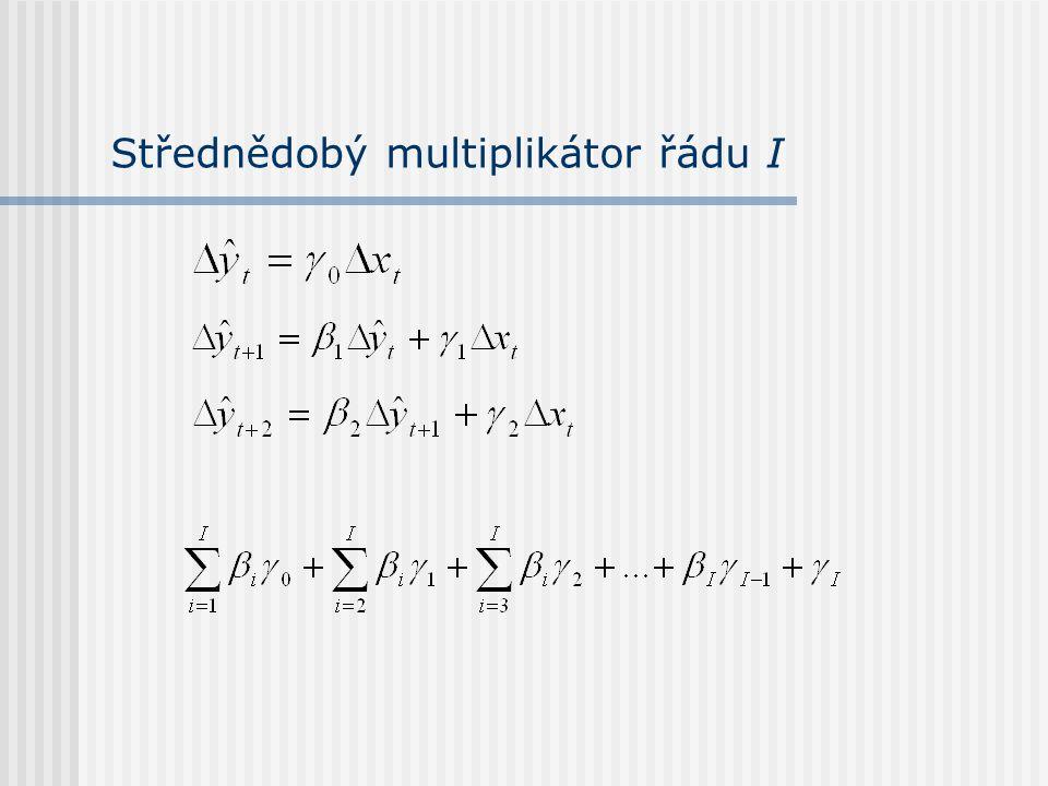 Střednědobý multiplikátor řádu I